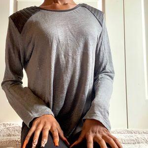 Zara Faux Leather Shoulder Top💫